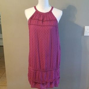 LOFT-Maroon mid calf dress